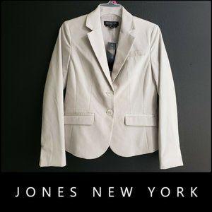 Jones New York Woman Lined Blazer Suit 4P Cream